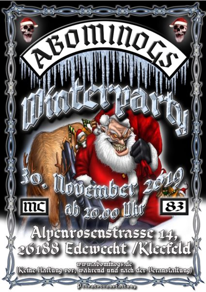 Abominogs MC  WINTERPARTY 2019 @ Ederwecht / Kleefeld